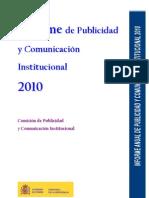 2010 - Informe de Publicidad y Comunicación Institucional