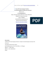 Book Review-calling All Foreign Language Teachers. Computer-Assisted Language Learning in the Classroom