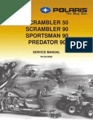 2003 Polaris Scrambler 50-90 Sportsman 90 Predator 90