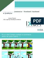 E-commerce, frontend i backend w praktyce