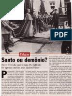 Papa Pio XII - Artigo de Veja