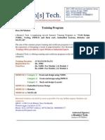 Training Program Schedule