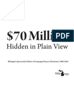 Michigan's Spectacular Failure of Campaign Finance Disclosure, 2000-2010