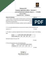 MC0074-Statistical and Numerical Methods Using C -Assignement-Feb-11