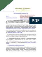 LEI Nº 8.989, DE 24 DE FEVEREIRO DE 1995 - ISENÇÃO DE IPI EM AUTOMOVEIS