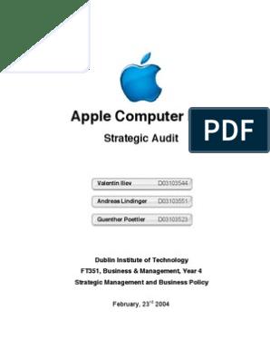 Apple Strategic Audit | Apple Inc  | Macintosh