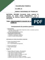 ARMAZENAMENTO SEGURO DE SUBSTÂNCIAS QUÍMICAS