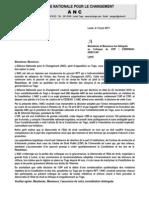 [ANC TOGO] Lettre de Transmission UIP au Colloque CDP UL