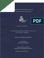 La Intervención desde la Acción Tutorial en la Escuela Primária [tesis] / Beatriz Mayor Serrano