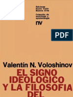 El signo ideológico y la filosofía del lenguaje