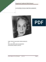 Biobibliografia de Sophia de Mello Breyner Andresen