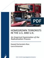 Homegrown Terrorists in the US and UK - An Empirical Examination of the Radicalization Process