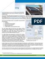 Factsheet Solar Water Heating
