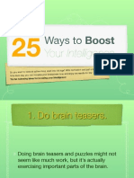 25 Ways to Boost Your Intelligence