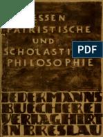 Hessen. Patristische und scholastische philosophie. 1922.