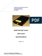 CCW APRS TNC Digi Tracker USB Version Operating Manual v1.9
