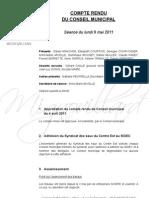 Mignovillard - Compte rendu du Conseil municipal du 9 mai 2011