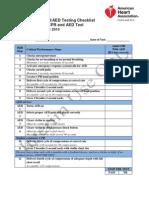ACLS Testing Checklist