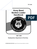 Army Band Section Leader Handbook
