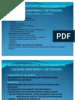 Microorganismos Indicadores de Calidad Sanitaria y Deterioro II Parte