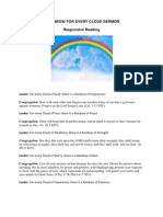 There is a Rainbow for Every Cloud Responsive Reading
