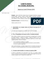 Mignovillard - Compte rendu du Conseil municipal du 22 février 2010
