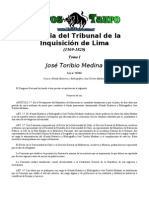 Medina, Jose Toribio - Historia Del Tribunal de La Inquisici