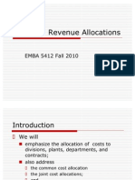 EMBA 5412 Cost and Revenue Allocation