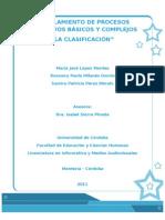 Modelamiento de procesos Cognitivos - Clasificación
