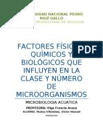 Factores Fisicos, Quimico y Biologicos-ACUATICA