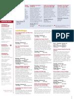 Current Workshop Series Calendar