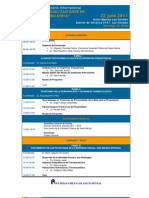 Programa Seminario 2011 2