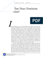 J. Rose, What Does Feminism Want