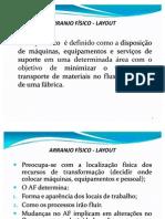 ARRANJO FÍSICO - Distribuição de Produtos 1