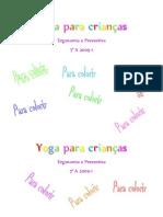 Apostila de Yoga Para Criancas