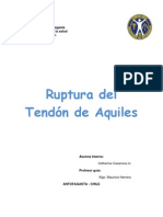 Ruptura Del Tendon de Aquiles