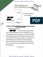 10-Cv-04381-CW Docket 23 Affidavit in Support of Motions and General Defenses Pro Se