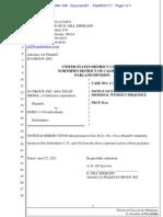10-Cv-04381-CW Docket 51 Notice of Voluntary Dismissal Without Prejudice