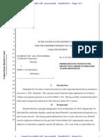 10-Cv-04381-CW Docket 52 Order Denying Motion for Protective Order
