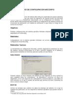 Utilitario de configuración MSconfig