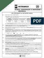 PROVA 20 -  PROJETOS, CONSTRUO E MONTAGEM I - MECNICA