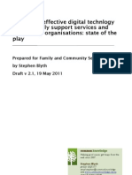 Promoting effective digital technology use by family support services and community organisations