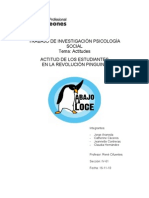 Informe revolución estudiantil