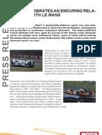 24 Hours of Le Mans - Motul Press Release - June 2011