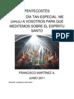 PENTECOSTÉS, VENIDA DEL ESPÍRITU SANTO