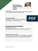 Introducing Bible ResourcesWORKSHEET[1]