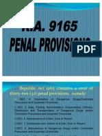 Ra 9165 Penal Provisions