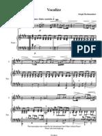 Rachmaninov - Vocalize Score
