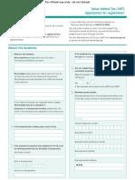 Value Added Tax (VAT) Number Registration / Application