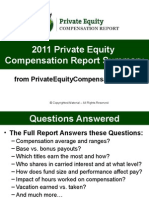 2011 Private Equity Compensation Report Summary